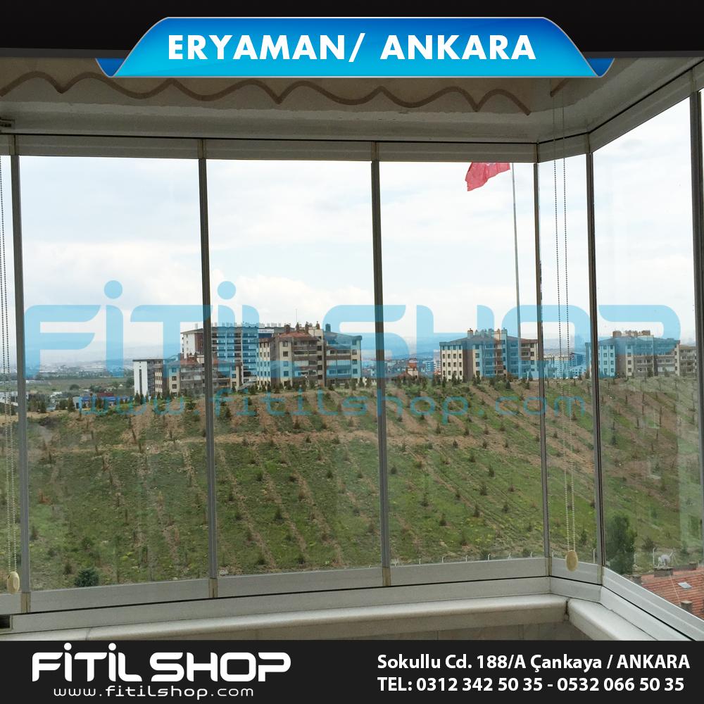 Eryaman Ankara cam balkon sistemleri