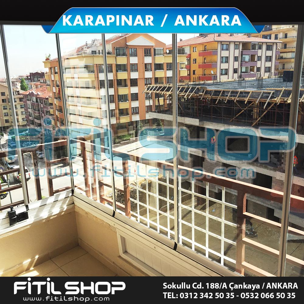 karapınar mahallesi ankara cam balkon fitili